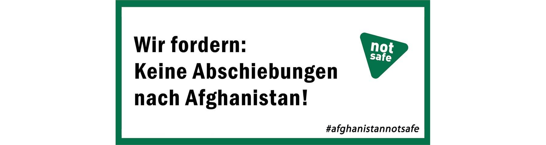 Keine Abschiebungen nach Afghanistan!