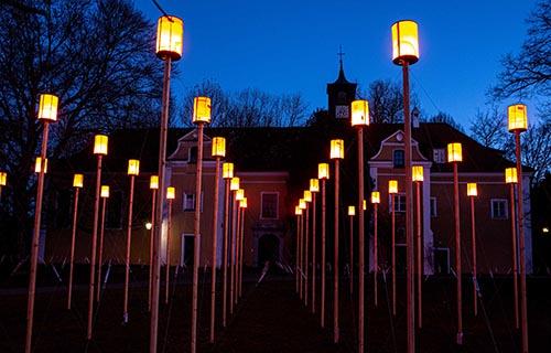 Projekt Leuchtenfeld - Schloss Blumenthal