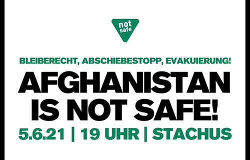 Afghanistan is not safe! Aufruf Demo München
